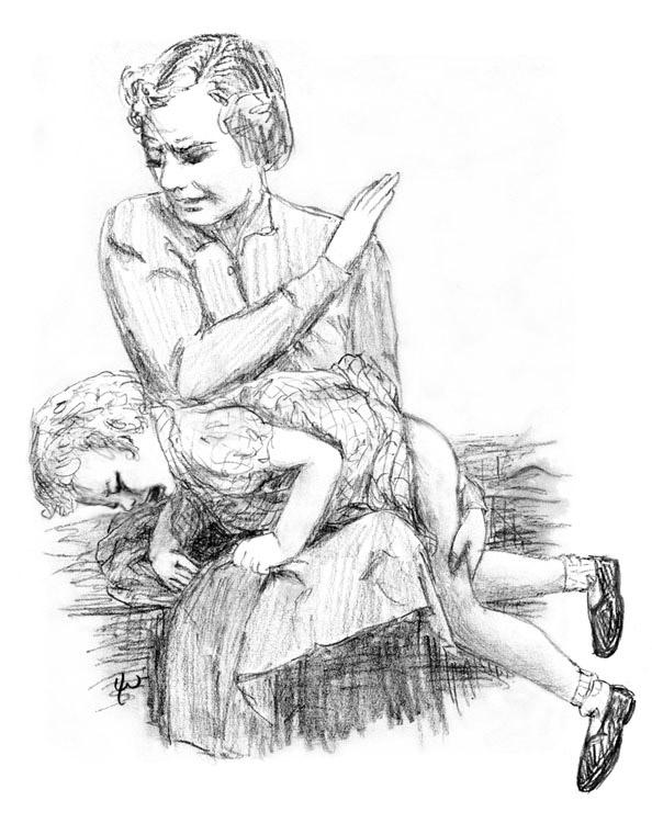 handprint lee warner spanking art