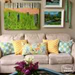 8 Spring Changes in the Living Room at thehappyhousie