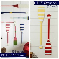 Pottery Barn Kids DIY Knockoff Oar Decor