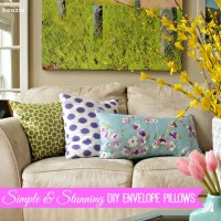 Simple & Stunning DIY Envelope Pillows Tutorial {Freshen Up for Spring}
