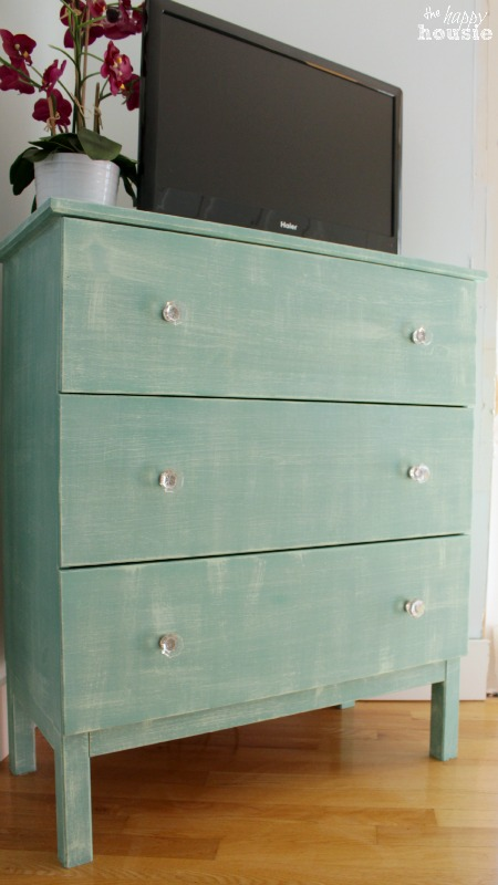 IKEA Tarva Dresser Hack With Faux Linen Texture At The Happy Housie After 4   Porch