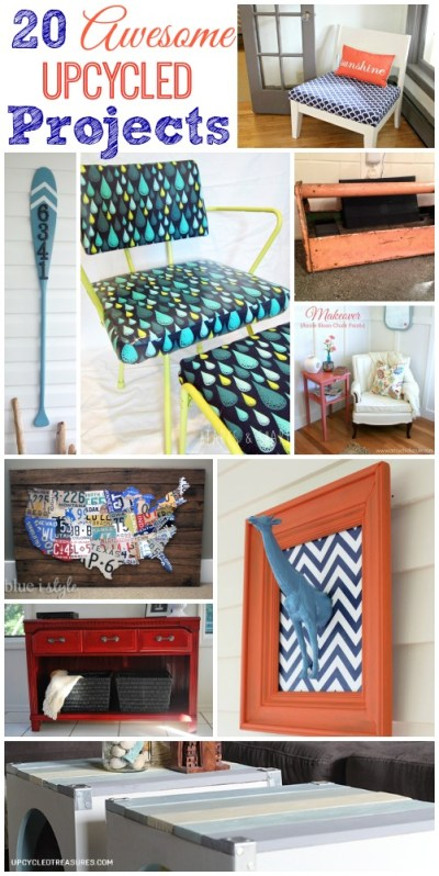 20 Awesome Upcycled Projects | The Happy Housie