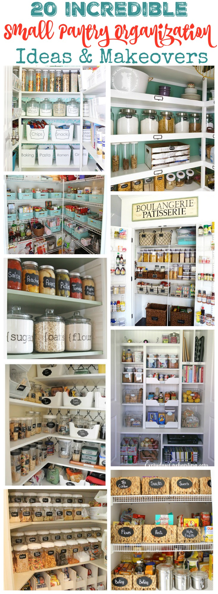 20 incredible small pantry organization ideas and makeovers kitchen organization ideas 20 Incredible Small Pantry Ideas Makeovers at thehappyhousie com