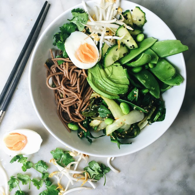 GREEN GODDESS NOODLE BOWL WITH GINGER MISO DRESSING 2