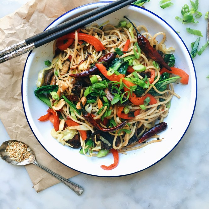Kung pao mushrooms and noodles6