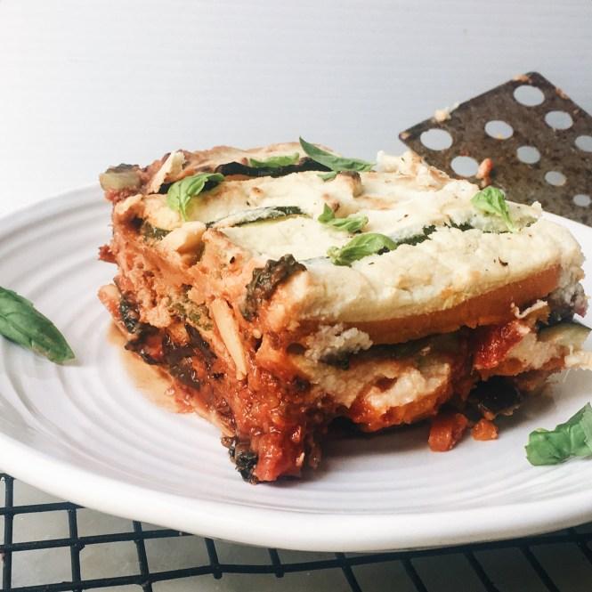 Vegetatrian lasagne with eggplant ragu and cauliflower sauce 4