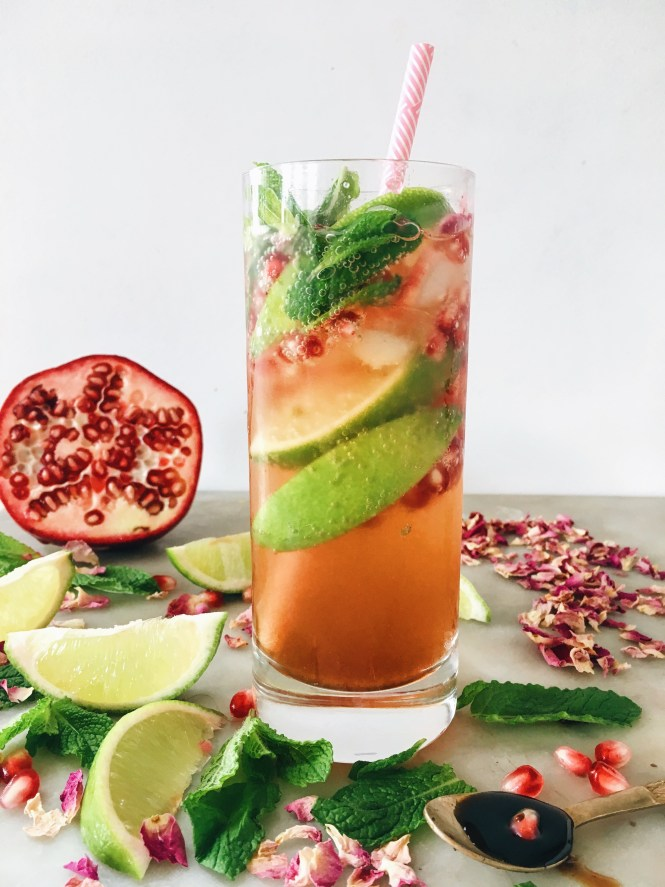 POMEGRANATE, MINT AND ROSE SPRITZ 8