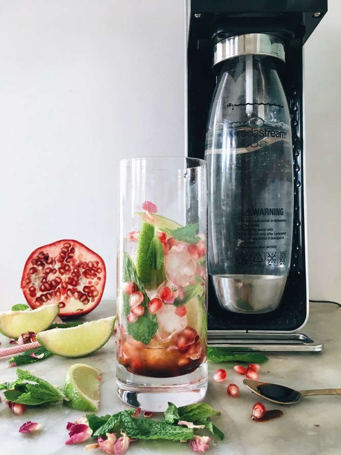 POMEGRANATE, MINT AND ROSE SPRITZ 4