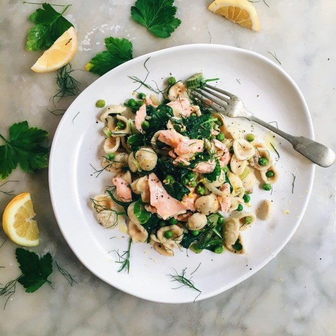 Salmon and Fennel pasta