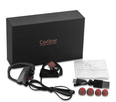 Canbor Wireless Headphones Bluetooth Earbuds 4.1 Sport