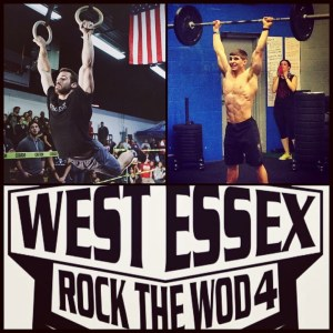 Good Luck Coach Mike D. and his partner Tim Caroll at CrossFit West Essex's Rock the WOD
