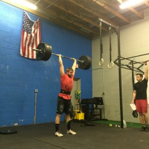 Coach Mike K hitting a PR Clean and Jerk during Last Years Open Workout....... Have You Signed Up yet for this year???