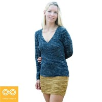 HEMP EVERGREEN KNIT SKIRT