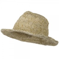 Large Hemp Cotton Brim Hat - Natural Plain