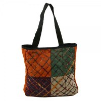 Multi Colored Hemp Shoulder Bag - Tote