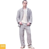 ORGANIC LINEN TERRY PANTS AND JACKET