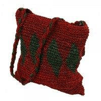 Tweed Yarn Closed Weave Hemp Shoulder Bag