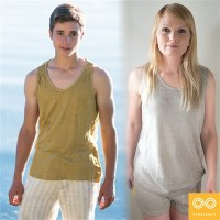 CHOPIN 100% ORGANIC FRENCH LINEN TANK TOP (NATURAL)