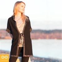 KNIGHTSBRIDGE HEMP CARDIGAN TUNIC