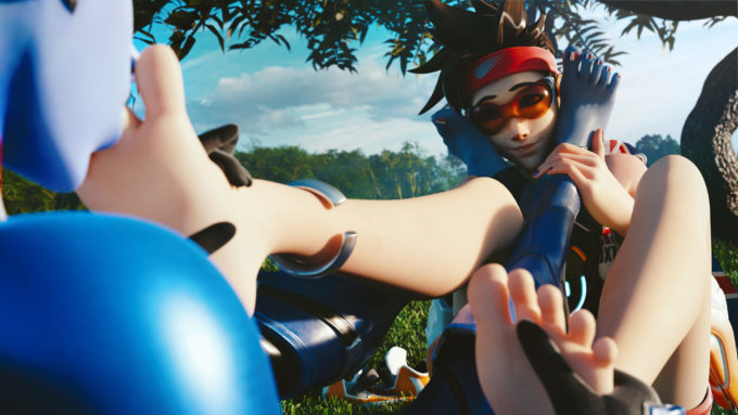 sexy naked tracer foot fetish
