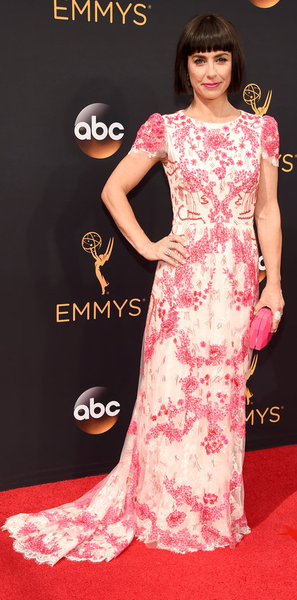 Constance Zimmer in Monique Lhuillier- 2016 Emmy Awards Best Dressed by The He Said She Said Experience