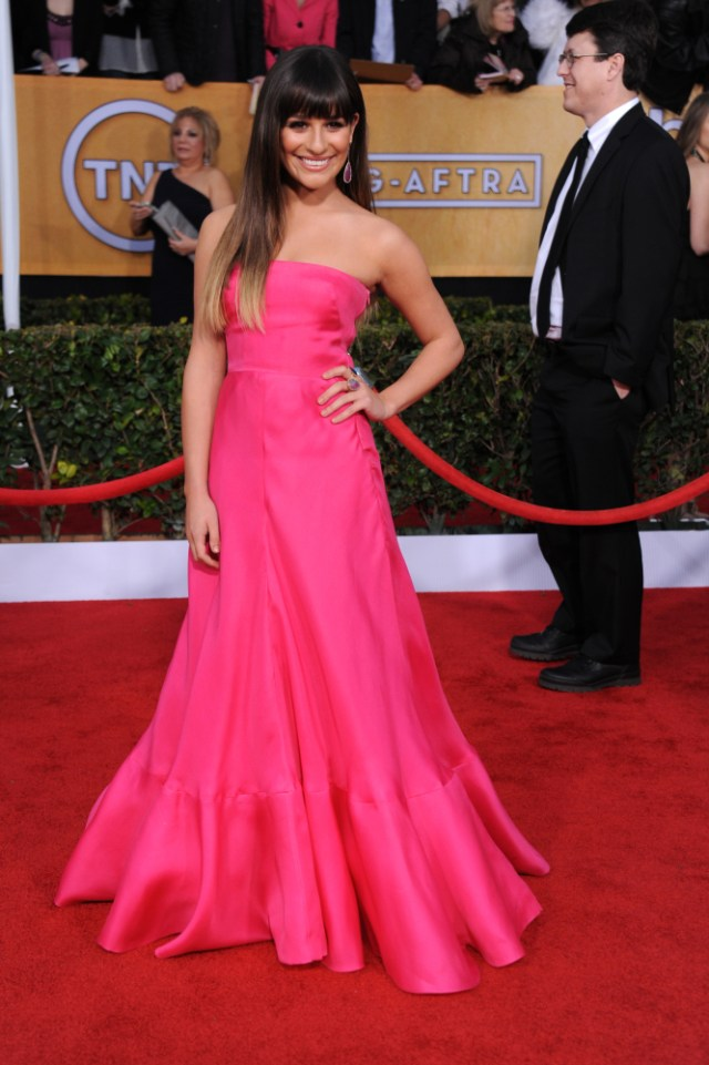 The He Said She Said Experience- Best Dressed 2013- Lea Michele in Valentino 2013 SAG Awards