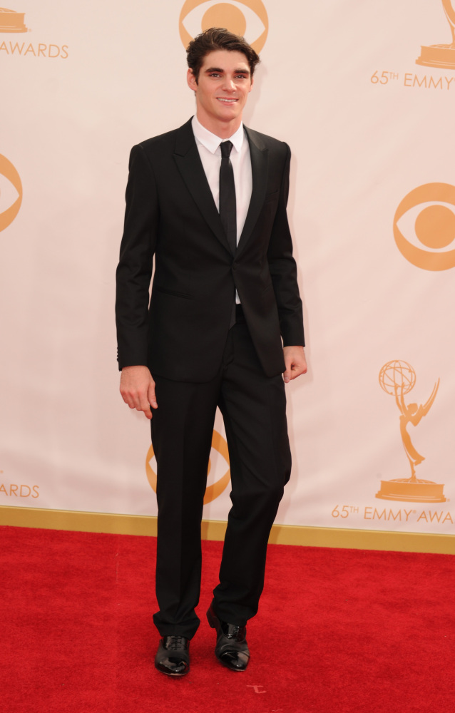 The He Said She Said Experience- Fashion Desk- 2013 Emmys- RJ Mitte