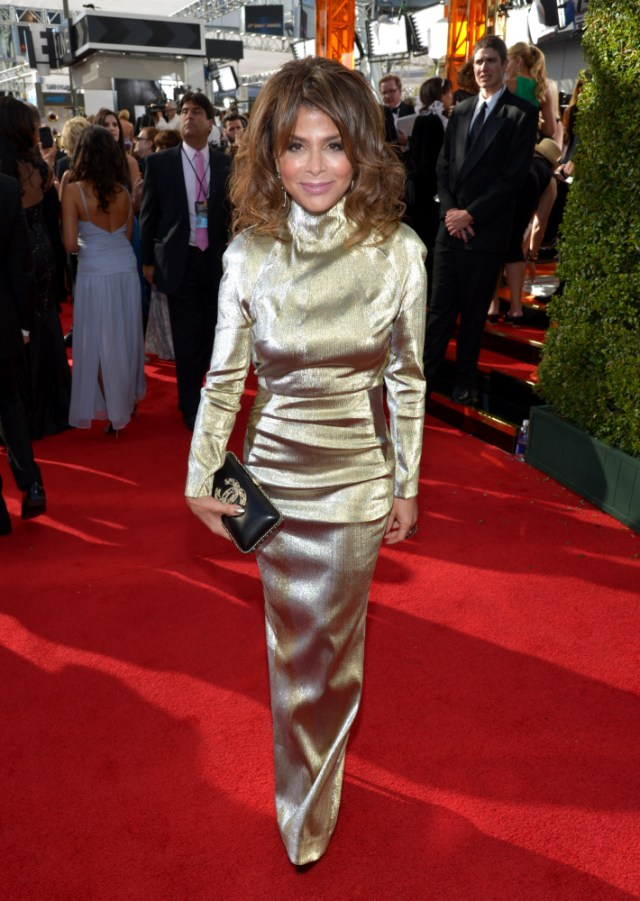The He Said She Said Experience- Fashion Desk- 2013 Emmys-Paula Abdul