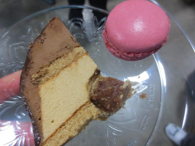 Paul Chocolate Hazelnut Cake and Macron