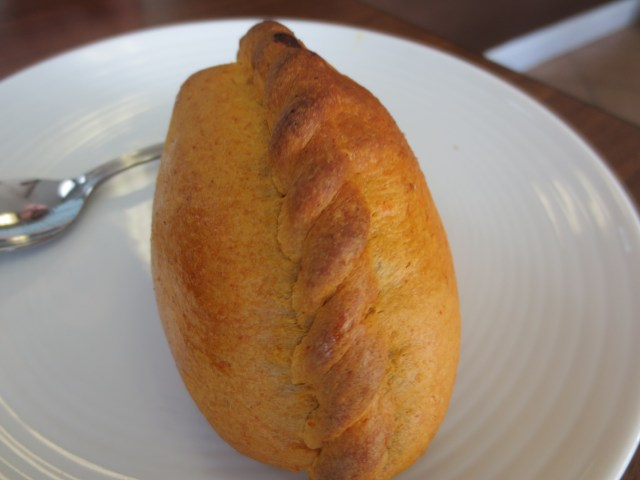 Look at the beautiful pastry of the saltena