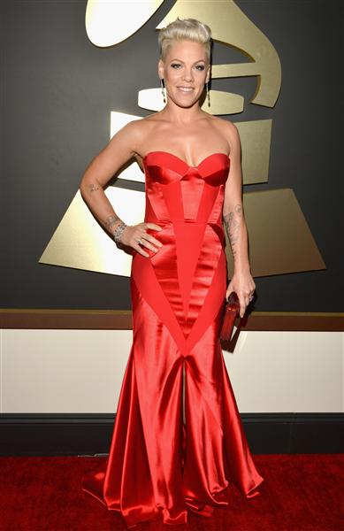 The He Said She Said Experience- 2014 Grammy Awards Best Dressed- Pink in Johanna Johnson