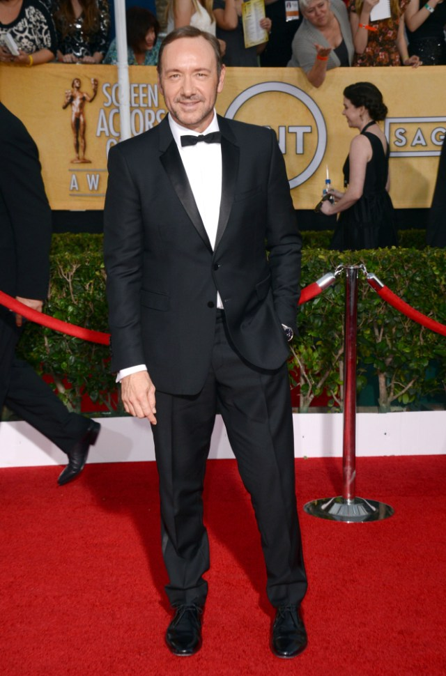 The He Said She Said Experience- 2014 SAG Awards Best Dressed- Kevin Spacey