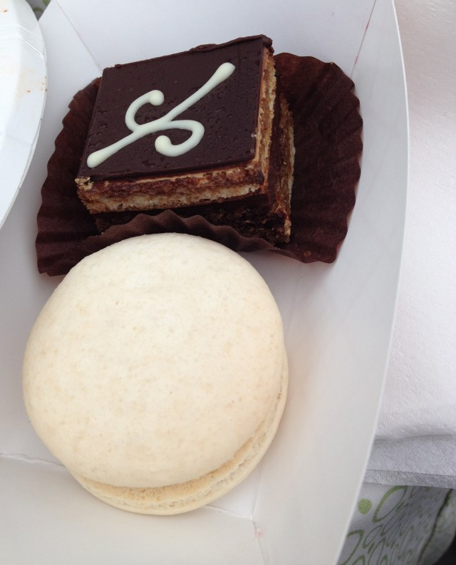 Opera Cake and Salted Caramel Macaron from Sweet City Desserts- Best Bites at 5th Annual Taste of Vienna by The He Said She Said Experience