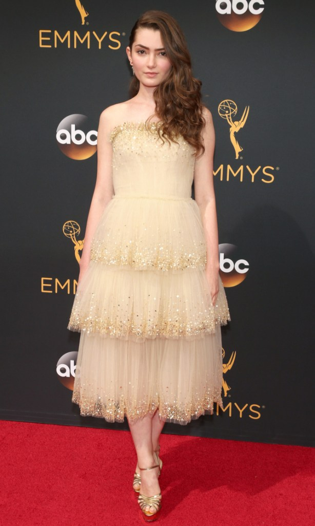 Emily Robinson in Carolina Herrera- 2016 Emmy Awards Best Dressed by The He Said She Said Experience