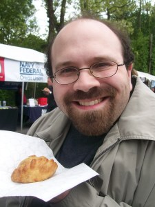 with meat pie from Pure Pasty Co.