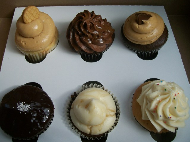 From top left- Peanut Butter, Salted Caramel, Peanut Butter Cup From bottom left- Chocolate Ganache, Sticky Toffee, Birthday Cake