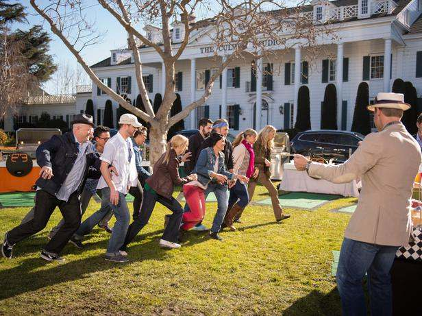 """The contestants race to participate in """"Burger Bash"""""""