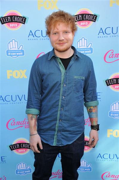 ed sheeran 2013 teen choice awards