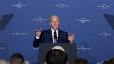 Vice President Joe Biden speaks at the Cancer Moonshot Summit at Howard University in Washington, D.C. on June 29, 2016. (Photo Credit: Carolyn Kaster/AP)