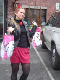 LeafSpace's host Monika is ready for the MLSE Trick-or-Tweet adventure.