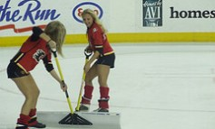 Frozen Flames Puck Links – Sutter's Gauntlet And Cheerleaders At The Saddledome