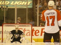 Jeff Carter, Philadelphia Flyers and Marc-Andre Fleury, Pittsburgh Penguins