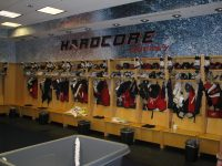The Scott Arniel inspired Blue JAckets dressing room (Jeff Little/THW)