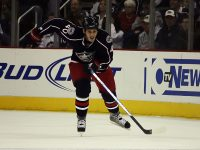 Columbus Blue Jackets winger Jared Boll had one of his strongest showings (Dave Gainer/THW)