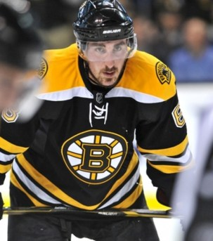 Brad Marchand has scored 9 goals on only 20 shots in 2013. (Icon SMI)