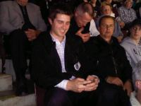 Kyle Dubas takes in a 2011 Memorial Cup game at the Hershey Centre alongside Greg Millen. The 25-year old is the OHL's youngest-ever General Manager, taking the record from the former GM of the Detroit Jr. Red Wings, Paul Maurice.