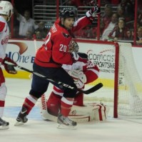 Troy Brouwer Capitals celebrates a goal