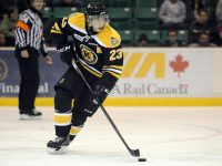 Ryan Spooner carrying the Kingston Frontenacs (Aaron Bell/OHL Images)