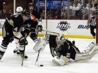 """Marc-Andre Fleury makes Hockey Canada nervous, but he's an important piece on """"Canada 2"""". (Charles LeClaire-US PRESSWIRE)"""