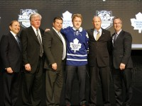 Toronto Maple Leafs top prospect Morgan Rielly on draft day 2012. (Charles LeClaire-US PRESSWIRE)